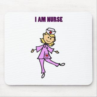 Happy Dancing Nurse Art Mouse Pad