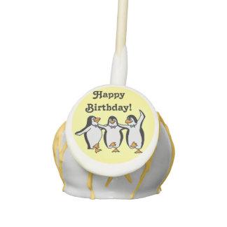 Happy Dancing Penguins Birthday Cake Pops