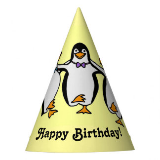 Happy Dancing Penguins Birthday Party Party Hat
