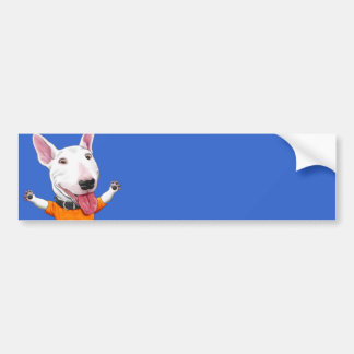Happy Dancing Puppy Car Bumper Sticker