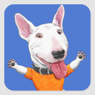 Happy Dancing Puppy Square Sticker