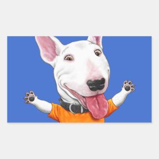 Happy Dancing Puppy Rectangular Sticker