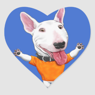 Happy Dancing Puppy Heart Sticker