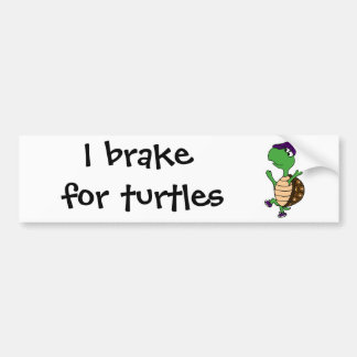 Happy Dancing Turtle Car Bumper Sticker