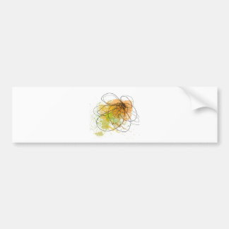 Happy day abstract green .JPEG Bumper Sticker