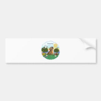 Happy Day - Brown Dachshund Bumper Sticker