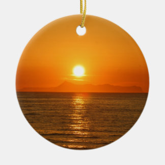 HAPPY DAY CRETE Double-Sided CERAMIC ROUND CHRISTMAS ORNAMENT