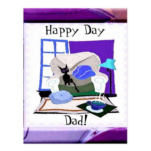 Happy Day Dad Postcard