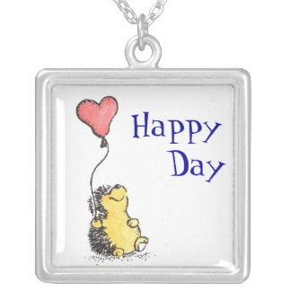 Happy Day! Square Pendant Necklace