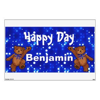Happy Day Teddy Bears Wall Skins