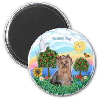 Happy Day - Yorkshire Terrier #4 Fridge Magnet