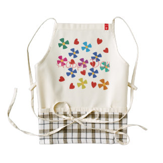 Happy Day Zazzle HEART Apron