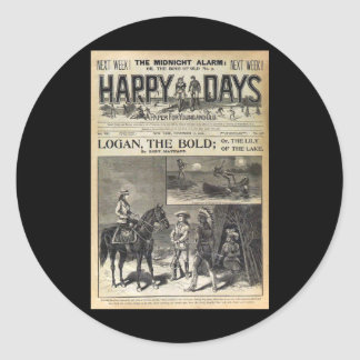 Happy Days A Paper for Young and Old 1905 Classic Round Sticker