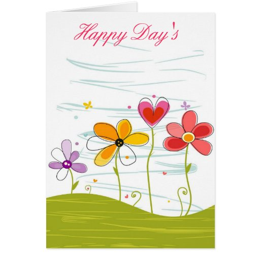 Happy Day's Flowering Card