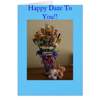 Happy daze greeting card