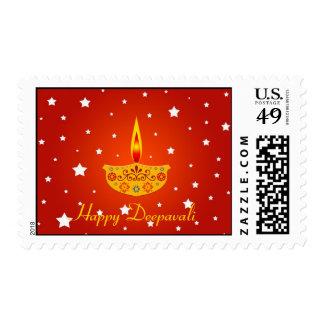Happy Deepavali - Stamp