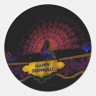 Happy Deepavali Round Sticker