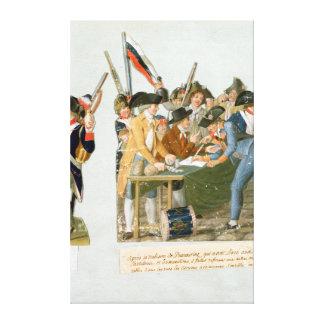 Happy Departure of the Army Volunteers Canvas Print