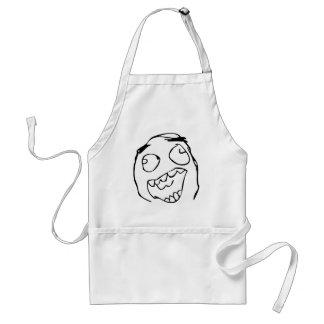 Happy derp -meme adult apron