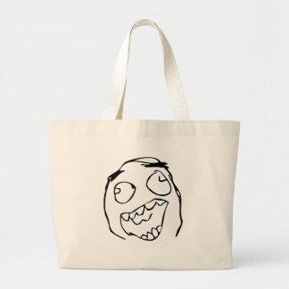 Happy derp -meme tote bag