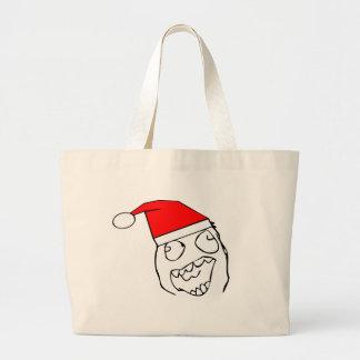 Happy derp santa - meme canvas bags