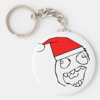 Happy derp santa - meme keychains