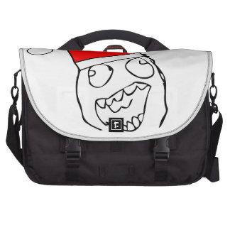 Happy derp santa - meme laptop messenger bag