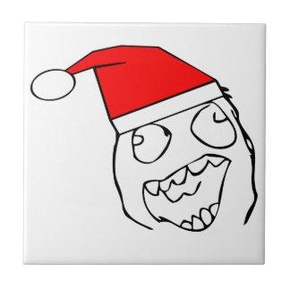 Happy derp santa - meme ceramic tiles