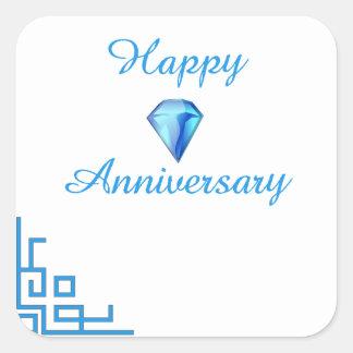 Happy Diamond Anniversary Square Sticker