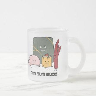 Happy Dim Sum Buds Frosted Glass Coffee Mug