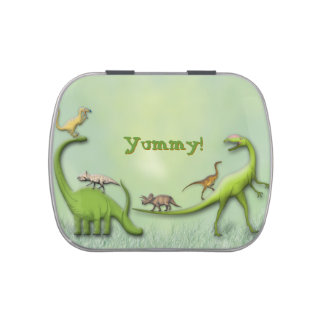 Happy Dinosaurs Jelly Belly Candy Tin