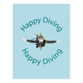Happy diving postcard