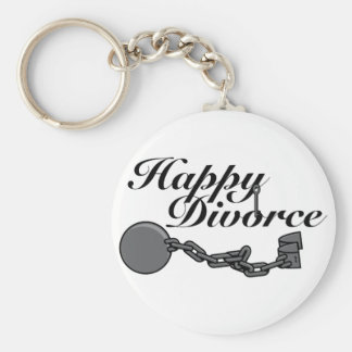 Happy Divorce! Basic Round Button Keychain