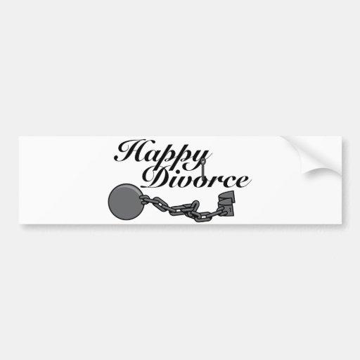 Happy Divorce! Car Bumper Sticker