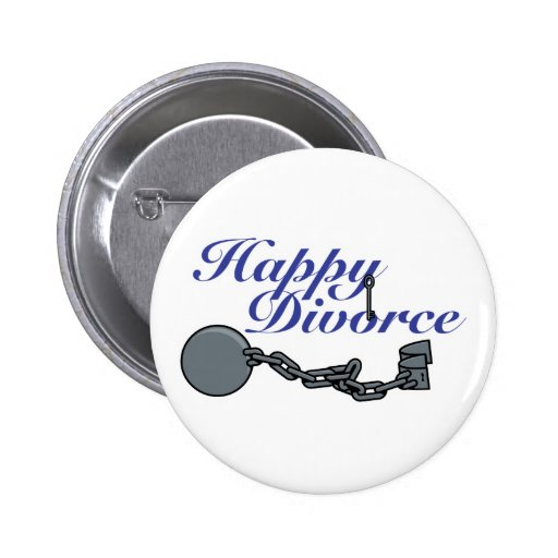 Happy Divorce Pinback Button
