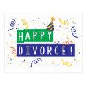 Happy Divorce Postcard