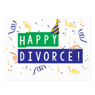 Happy Divorce Postcard