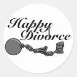 Happy Divorce! Round Stickers