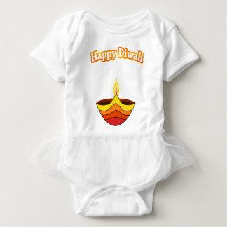 Happy Diwali and Diya Lamp Baby Bodysuit