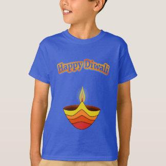 Happy Diwali and Diya Lamp T-Shirt