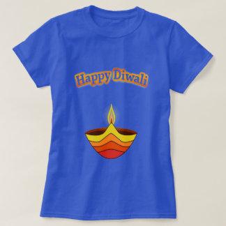Happy Diwali and Diya Lamp Tee Shirt