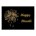 Happy diwali black bg greeting card