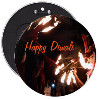 Happy Diwali Colossal Round Badge Pinback Button
