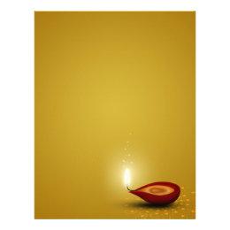 Happy Diwali Diya - Letterhead Stationery