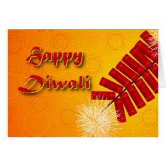 Happy Diwali Fireworks Greeting Card