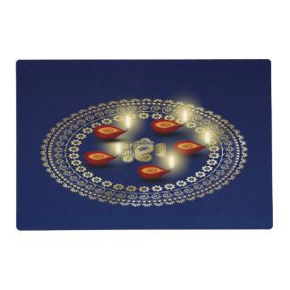 Happy Diwali Ganesha Rangoli - Laminated Placemat