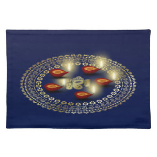 Happy Diwali Ganesha Rangoli - Placemat
