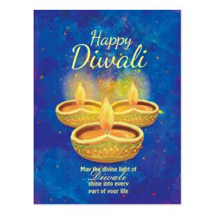 Diwali postcards zazzle happy diwali illuminating candles greeting postcard m4hsunfo