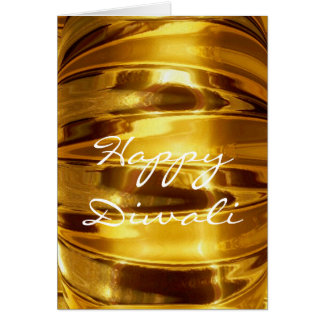 Happy Diwali in Sparkling Gold Greeting Card