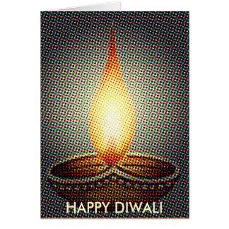 HAPPY DIWALI LAMP WISH GREETING CARDS